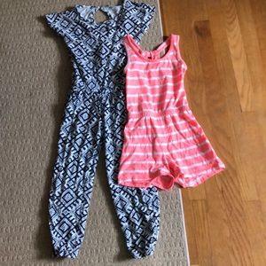 Girls romper/jumpsuit lot size 6/7
